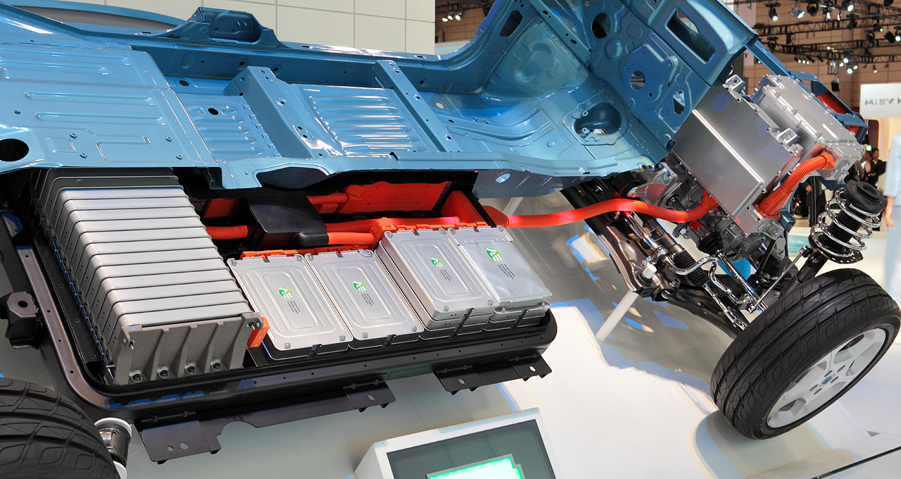 Electric car battery from a nissan leaf