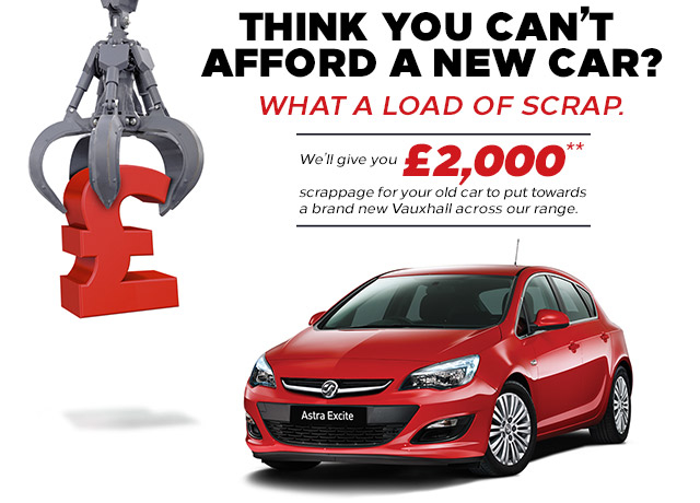 Vauxhall scrappage scheme new used car buy sell