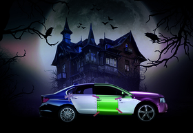 Frankenstein car halloween car cost repairs warranty