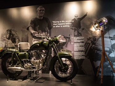 Famous Steve Mcqueen bike from The Great Escape