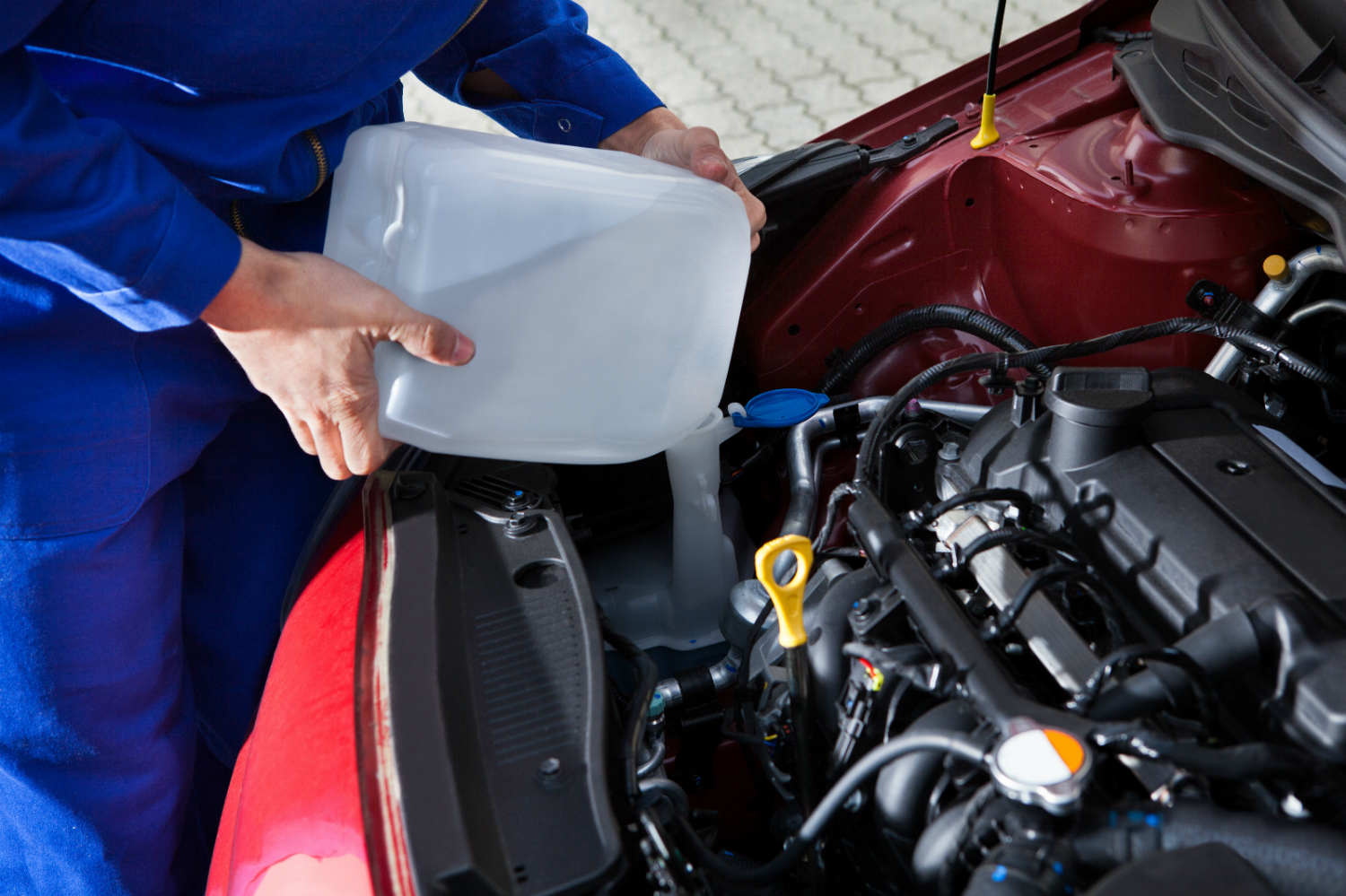 Car Servicing Fluid & Air Top Up